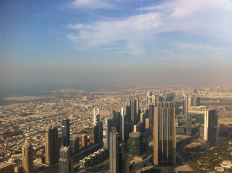 Top of Burj Khalifa,(currently) tallest Building in world